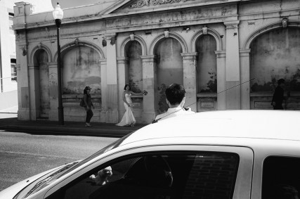 black and white wedding photo fremantle australia